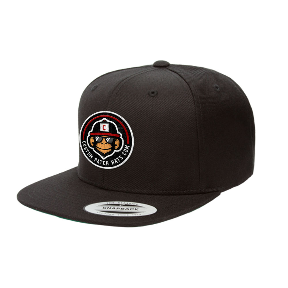 custom yupoong snapback patch hat