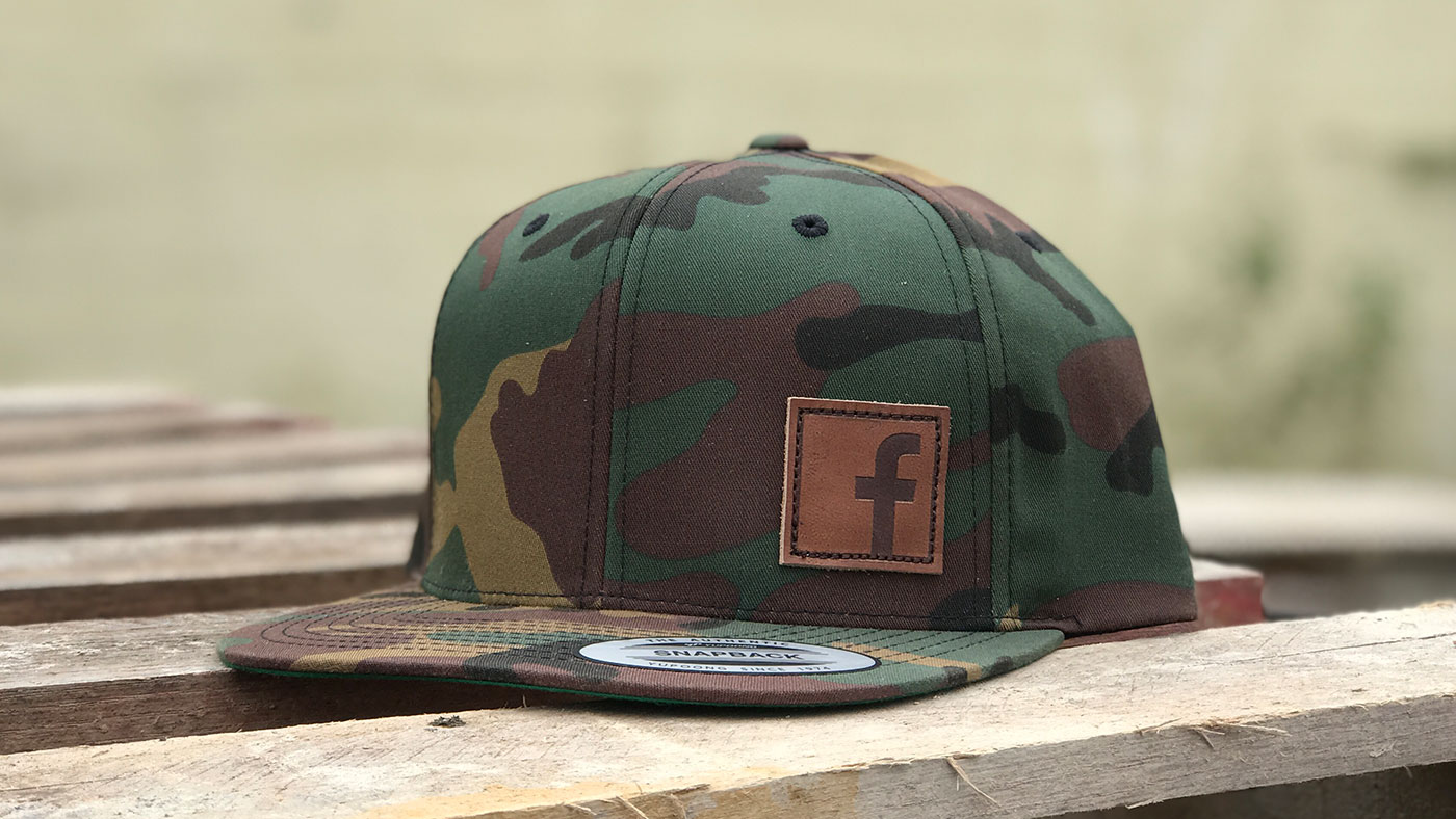 Facebook Leather Patch Hat