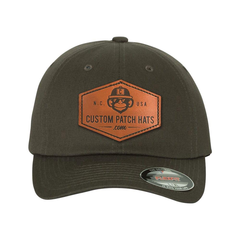 Custom Flexfit Leather Patch Hats