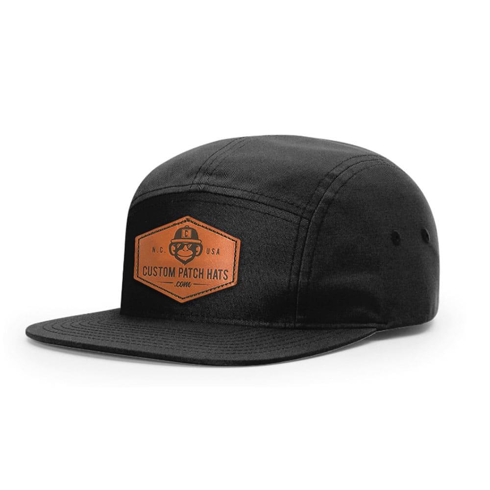 Custom Leather Patch Jokey Camp Hat