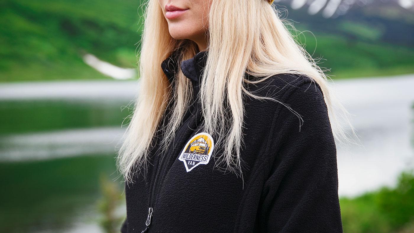 Custom Embroidered Patch Fleece Jacket