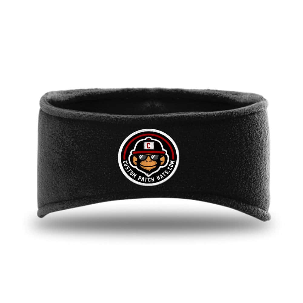Custom Fleece Headbands With Patch