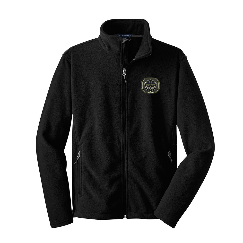 Fleece Jacket With Custom Embroidery Patch