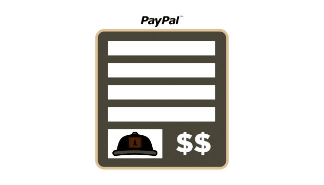 custom hat invoice icon