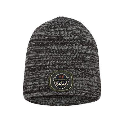 Sportsman 8 Marled Knit Beanie SP03 Grey:charcoal Patch