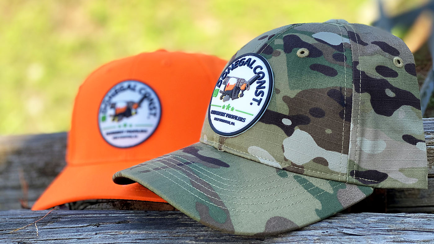 Camo And Blaze Orange Kati Pvc Patch Hat2