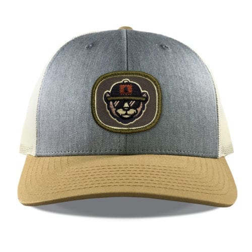 Richardson 115 Bear Embroidered Patch Hats