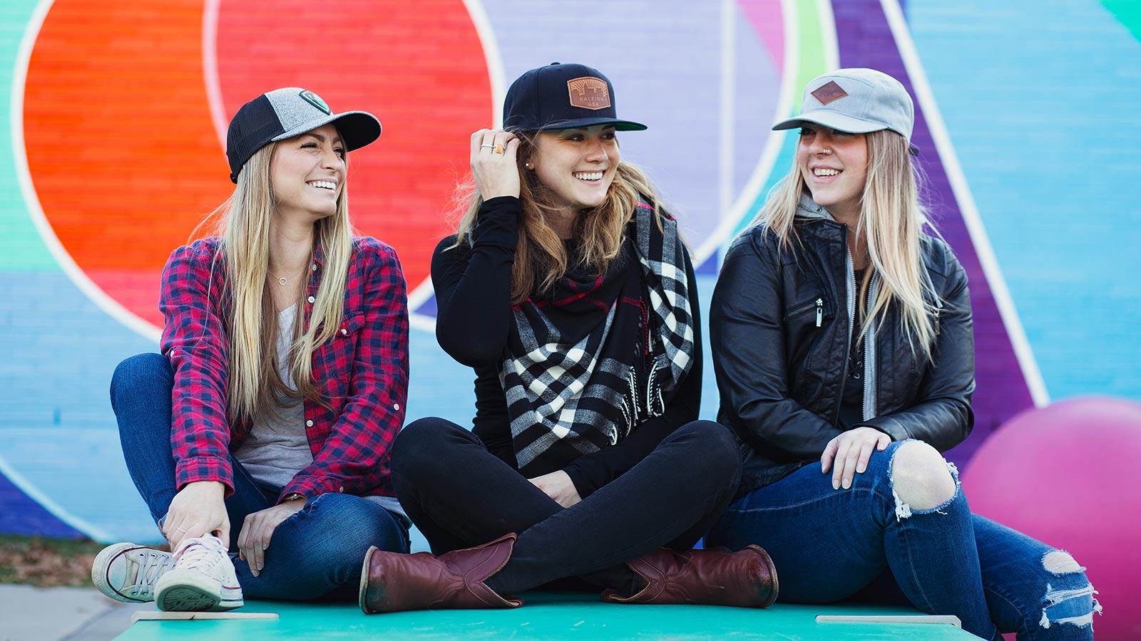 Happy People Wearing Hats