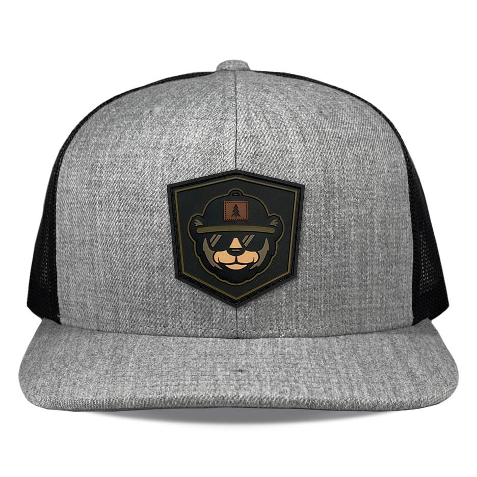 Richardson 511 Heather Black Pvc Bear Patch Hats