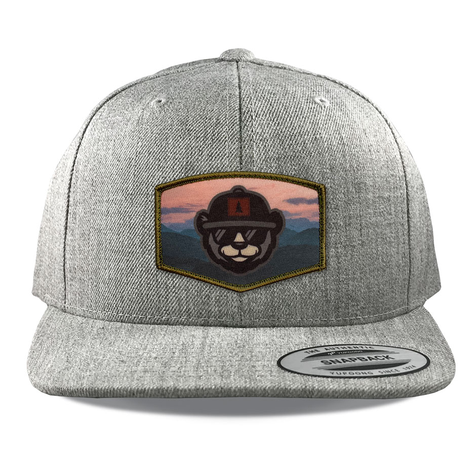 Y6089 Heather Sublimated Patch Hats